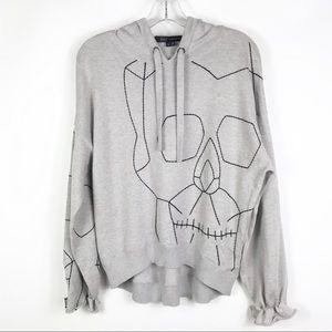 SKULL CASHMERE Rashida Skull Hooded Sweater
